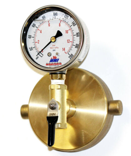 NNI 2-1/2 NST Fire Hydrant Static Pressure 200Psi Gauge with Bleeder valve