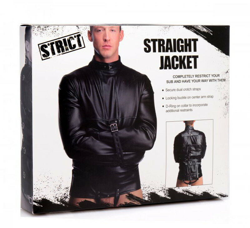 Camicia di forza Giacca Straight Jacket Strict Bondage Fetish BDSM Giacca forza Restrittiva 8651de