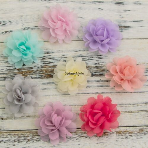 Chic Mini Soft Chiffon Fabric Flowers For Baby Headbands Hair Accessories 30pcs
