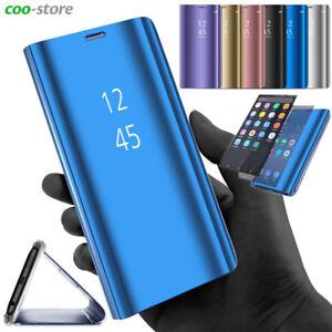 Smart-Miroir-Antichoc-Support-en-PU-Cuir-Coque-Housse-Etui-pour-Samsung