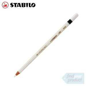 STABILO-ALL-AQUARELLABLE-WHITE-PENCILS-8052-WAX-PENCIL-CHINAGRAPH