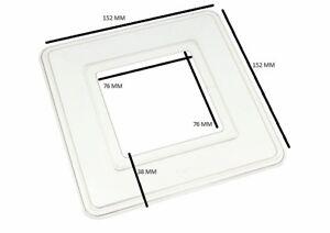 Simple Interrupteur De Lumière Surround Doigt Plaque Arrière en Plastique Transparent Pack de 2