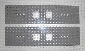 LEGO-Eisenbahn-2x-Grundplatte-6x24-neudunkelgrau-Waggon-Train-Base-92088-60051
