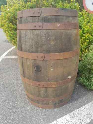 EX WHISKEY 40 GALLON OAK BARREL Wooden Keg Barrels Cider Pub Table Whisky Cask