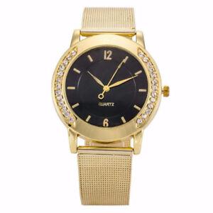 Fashion-Women-Crystal-Golden-Stainless-Steel-Analog-Quartz-Wrist-Bracelet-Watch