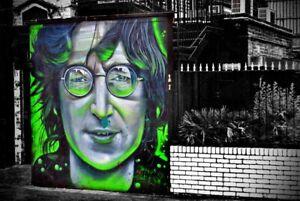 Graffiti street art mural in Camden Town London photograph picture poster print