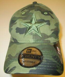 New-Era-9Twenty-Dallas-Cowboys-Cap-Hat-men-adjustable-mesh-back-Camo-camouflage