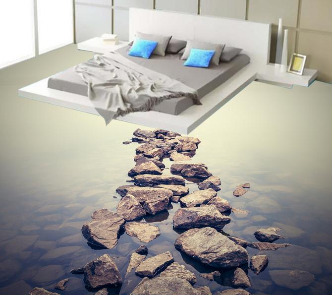 3D Water Stone River 86 Floor WallPaper Murals Wall Print Decal 5D AU Lemon
