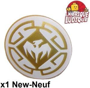 Lego 1x Minifig shield bouclier rond round skull tête de mort 59231pb01 NEUF