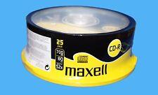 25x CDR MAXELL BLANK DISCS CD-R RECORDABLE CD 80 MINS 52X 700MB DISC