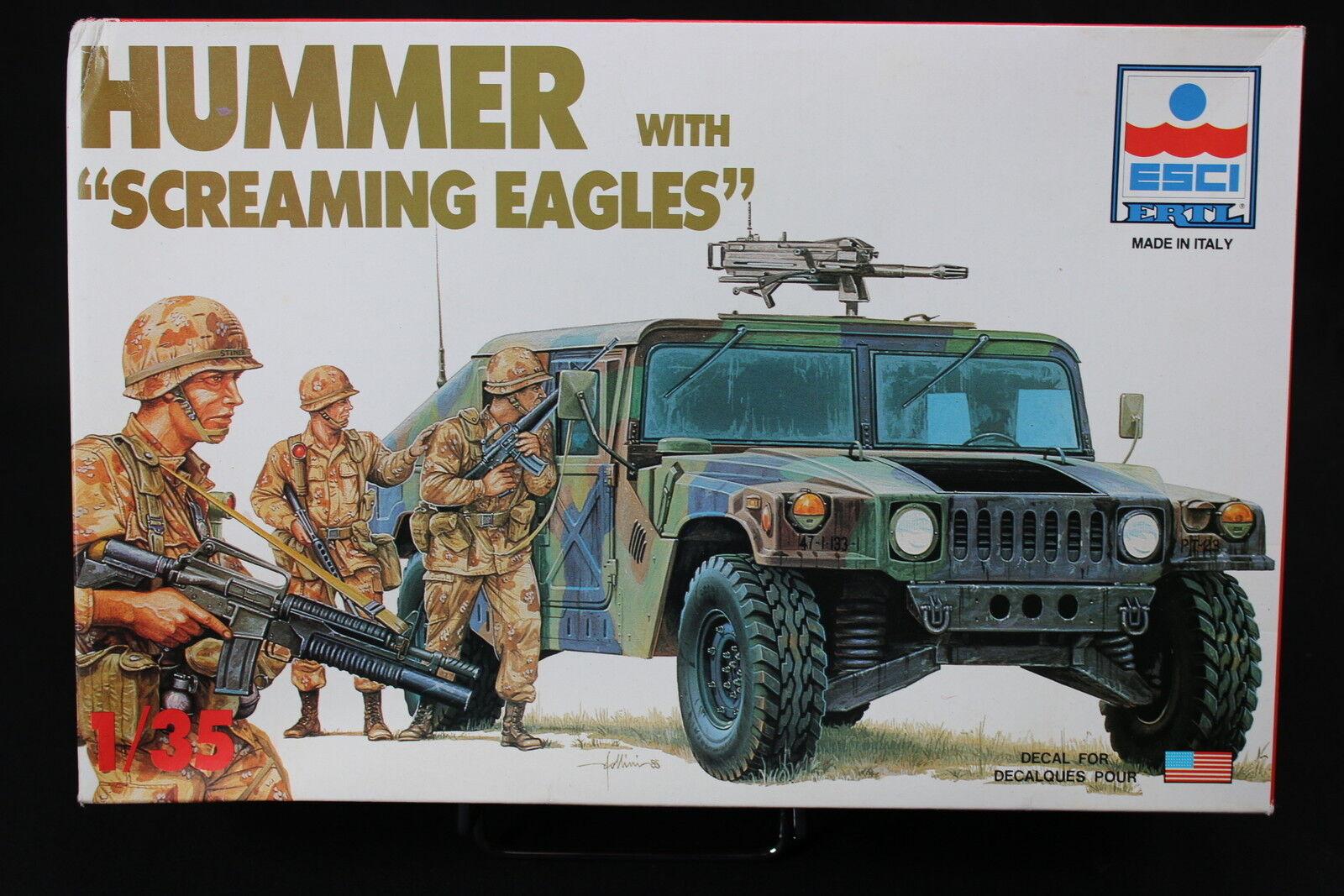 YC056 ESCI 1 35 maquette tank char 5016 Hummer +  Screaming Eagles rare version  choisissez votre préférée
