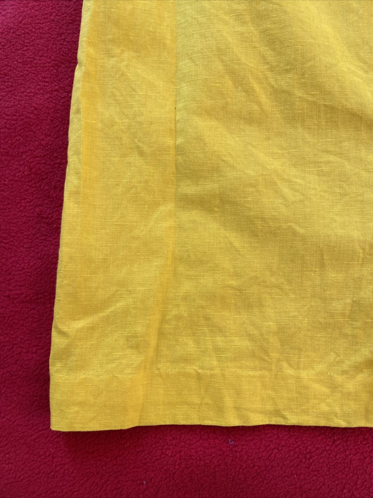 floryday bright yellow linen shift dress size med… - image 2