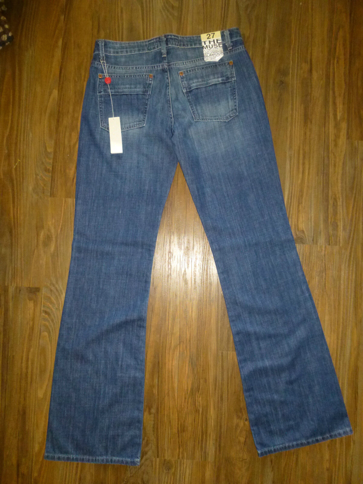 JOE'S JEANS THE MUSE  MED DARK JEANS Women's 27 x 35  NEW WITH TAGS