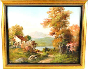 H-TOURNAY-SWISS-B-1890-AUTUMN-LANDSCAPE-OIL-ON-CANVAS