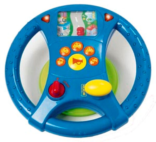 Toy Car Age 12 Months Plus NEW Childrens Driving Wheel with Lights /& Sounds