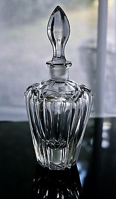 Antique Crystal Cut Glass Perfume Bottle Decanter and Stopper