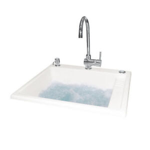 Neptune Sink : Details about NEPTUNE ACRYLIC LAUNDRY SINK WITH ACTIV-AIR SYSTEM JETS ...
