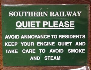 RAILWAY-SIGN-SOUTHERN-RAILWAY-QUIET-PLEASE-SILENCE