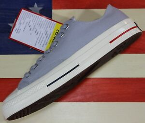 CONVERSE-SAMPLE-Chuck-Taylor-ALL-STAR-OX-Low-1970s-Wolf-Grey-Canvas-160496C-sz-9