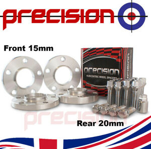 Staggered Wheel Spacers 15mm/20mm with Bolts Nuts and Locks for BMW 5 Series G30