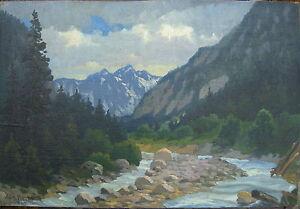 WIMBACHTAL-BEI-BERCHTESGADEN-ALPEN-EDMUND-WERNER-1923-ANTIK-LANDSCHAFT-HIQ