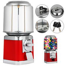 Gumball Bank Ball Vending Machine Candy Stand Gum Metal Base With Keys Table Top