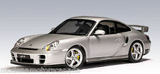 PORSCHE 911 (996) TURBO COUPE GT2 SILVER BY AUTOart 1:18 77841 BRAND NEW IN BOX