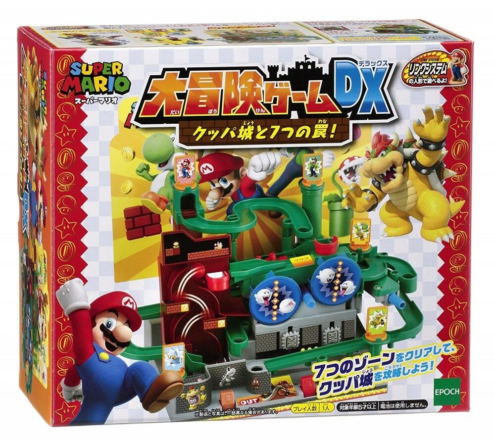 EPOCH Super Mario Big Adventure Game DX Koopa Castle and 7 Traps Board Game