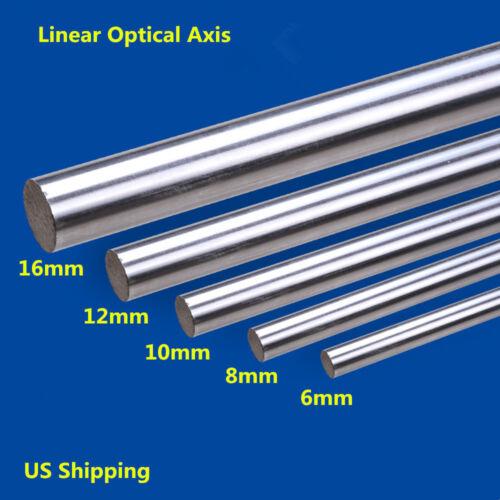 2x 300-1000mm Cylinder Linear Rail Linear Shaft Optical Axis OD 6//8//10//12//16mm