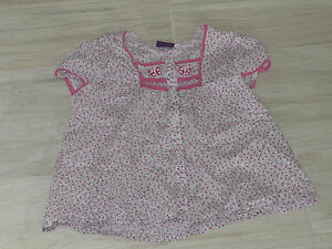 450-Blouse-chemisier-MC-4-ans-fleuri-theme-papillon-SERGENT-MAJOR