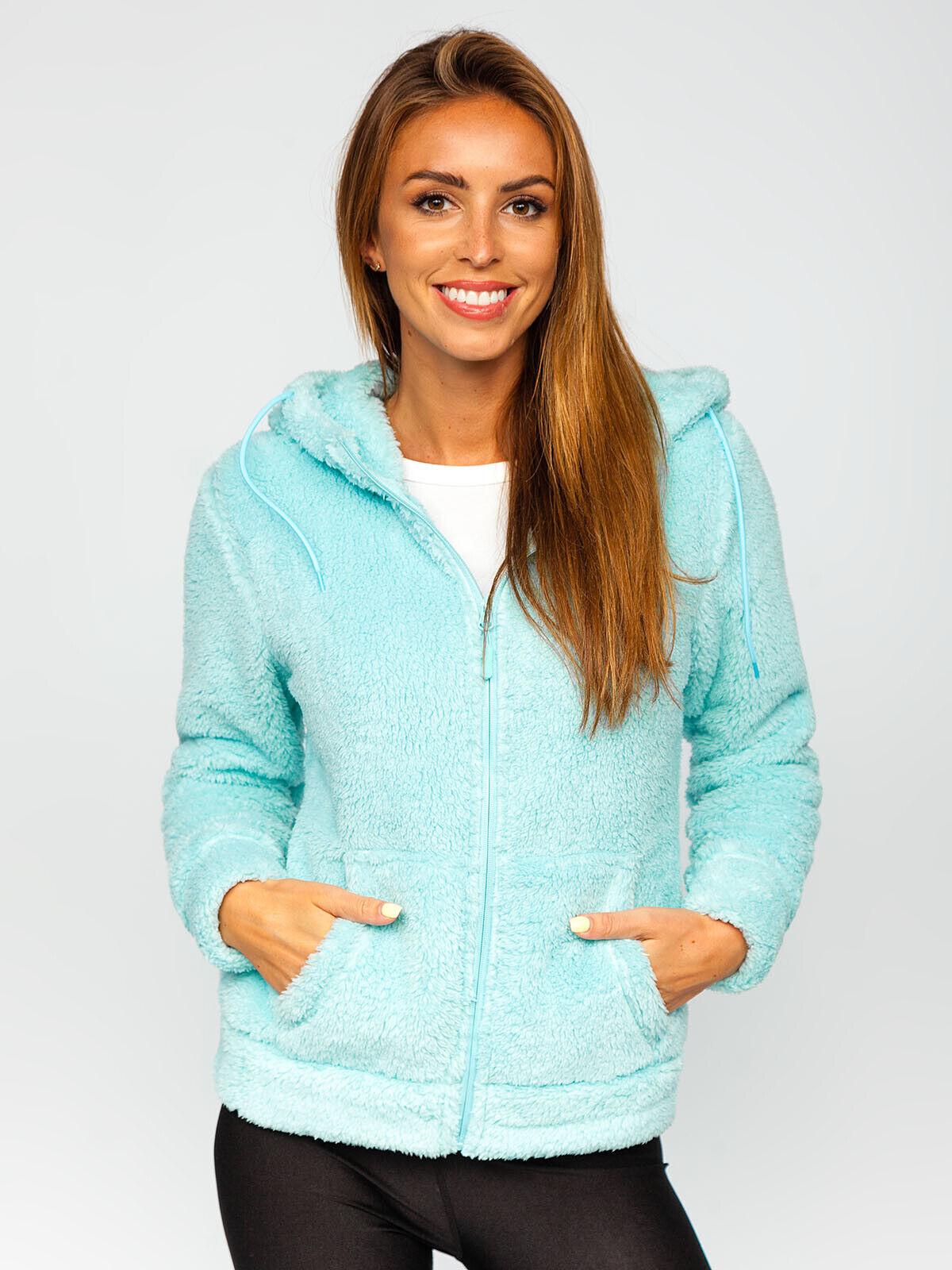 Fleecejacke Pullover Sweatshirt Classic Übergangs Kapuze Damen Mix BOLF Motiv