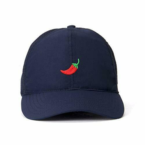 Red Chilli Pepper Baseball Cap Embroidered Cotton Adjustable Dad Hat
