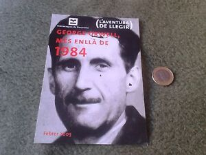 TARJETA-PUBLICITARIA-CONMEMORATIVA-GEORGE-ORWELL-MES-ENLLA-DE-1984-BARCELONA