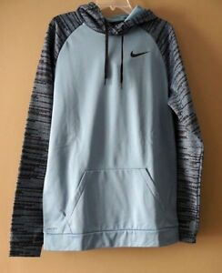 5530f8fb3e50 Nike Men s Big   Tall Therma Dri-Fit Cerulean Blue Black Hoodie ...