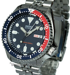 SEIKO-200MT-AUTO-PRO-DIVERS-WITH-STAINLESS-STEEL-JUBILEE-BRACELET-SKX009K2