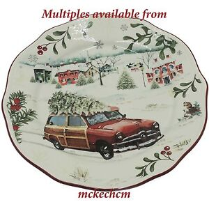 Multiples Better Homes Gardens Christmas Salad Plate Tree On Car Design Ebay