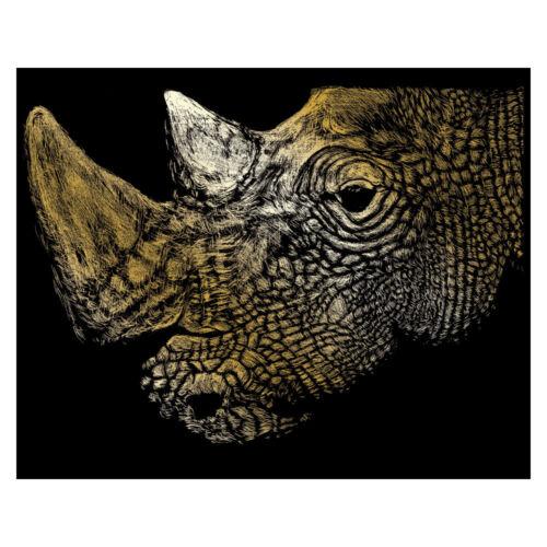 Scraperfoil Royal Langnickel Myth Maker Rhino GOLF31 Gold Foil Engraving Art