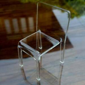 Dollhouse Transparency white top working table with triangle leg scale 1:12