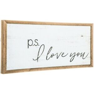 Modern-Vintage-P-S-I-Love-You-Wood-Wall-Sign-Shabby-Chic-Decor