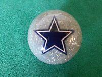 Nfl Dallas Cowboys Collector Silver Pool / Billiard Cue Ball -