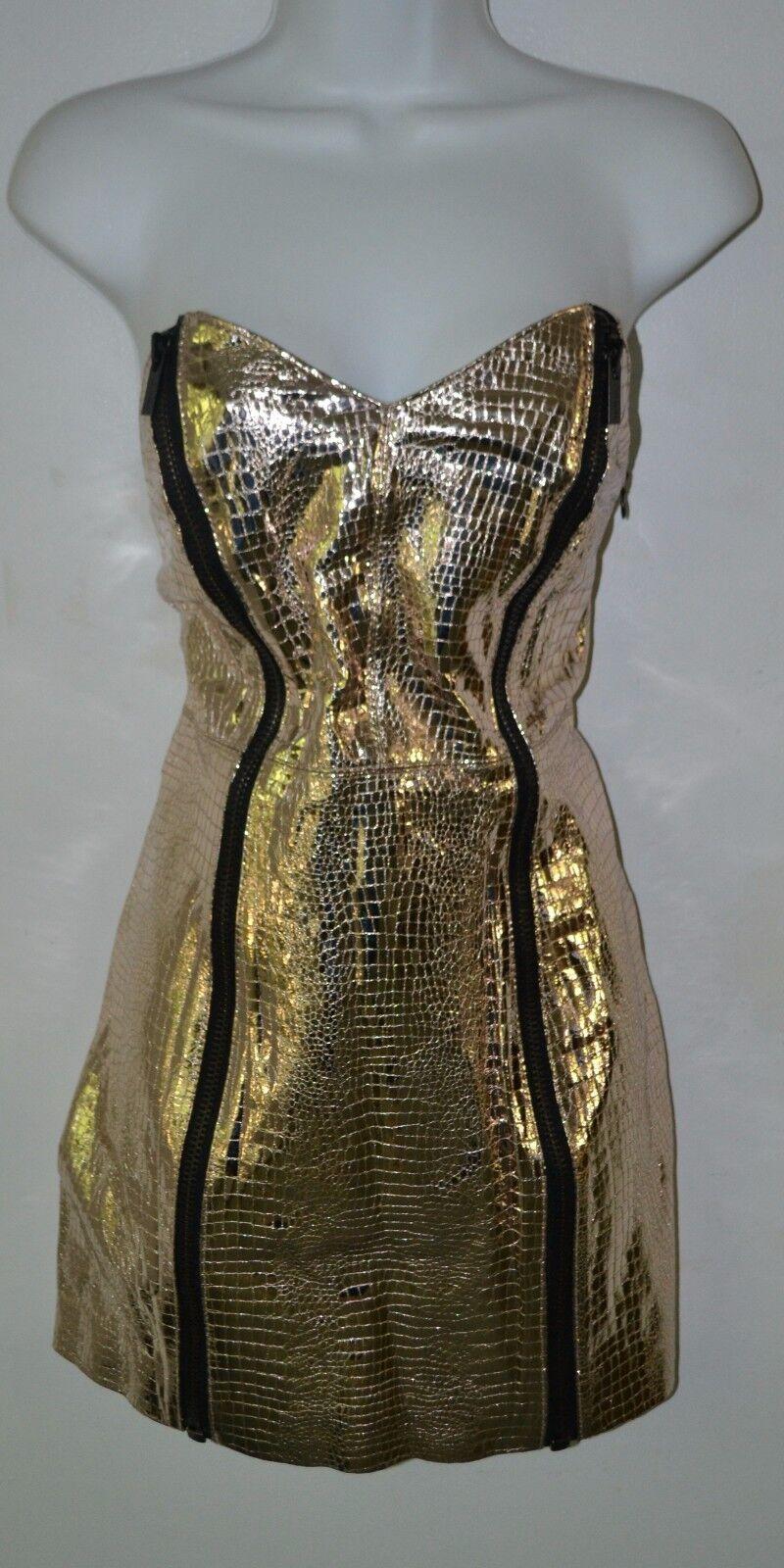 Nasty Gal Collection, Robe, Prisme, cuir, vacances 2012, grand, fermetures éclair