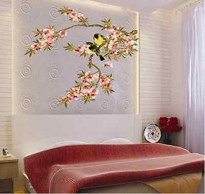 Birds and Flower Branches Home Decor Wall Stickers
