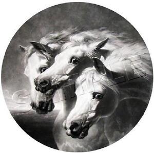 "PHARAOH'S HORSES *CANVAS* Art Print - Canvas 11"" x 8 1/2"" / Image 8"" Diameter"