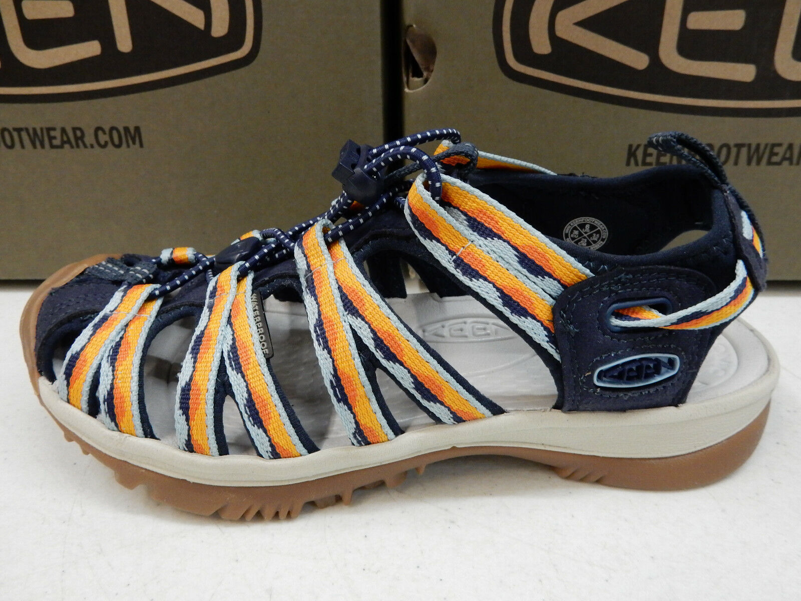 Keen Womens Whisper Navy bluee Glow Size 7