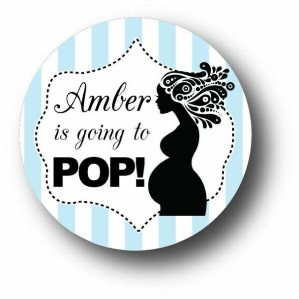 Labels 12 Personalized Going To Pop Baby Shower Stickers Girl