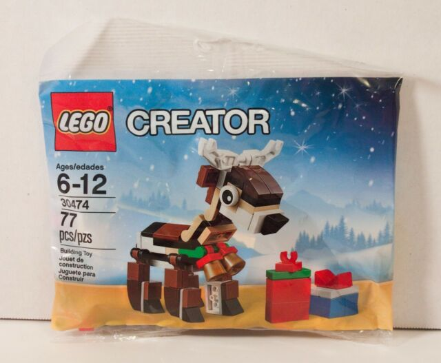 lego christmas reindeer 30474 seasonal holiday polybag creator new sealed