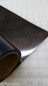 "12"" x 20"" BLACK Glitter Heat Transfer Vinyl Cricut Iron On - T Shirt Vinyl Cheer"