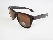 Brown Wood Grain Wayfare Sunglasses Retro Wooden Style Glasses Unisex 8351