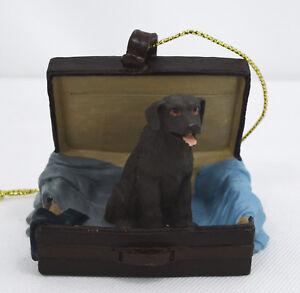 Chocolate Lab Labrador Retriever Figurine Traveling Companion Dog Ornament Ebay
