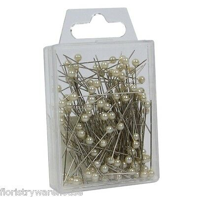 Pearl head pins Ivory cream florists corsage craft buttonhole 4cm Box of 144
